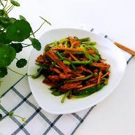 青椒豆干炒肉丝,吃出胶原蛋白来
