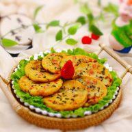 """土豆<span style=""""color:red"""">火腿</span><span style=""""color:red"""">肠</span>饼"""