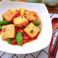 番茄彩椒烧豆腐