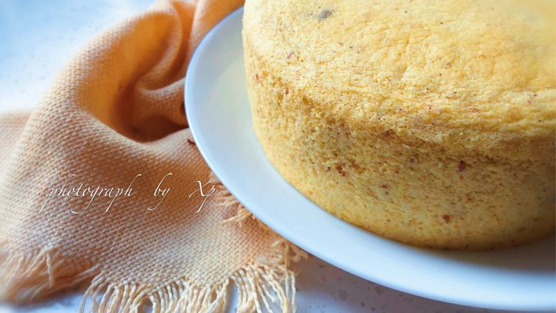 芝麻玉米粉蒸蛋糕