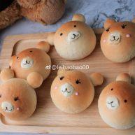 小熊豆沙面包