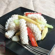 玉米笋炒鲜鱿