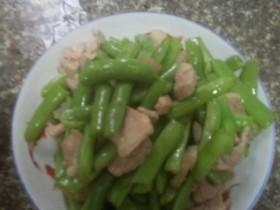 四季豆炒猪肉