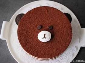 可爱的提拉米熊(提拉米苏)蛋糕