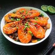"""香辣虾<span style=""""color:red"""">煲</span>"""