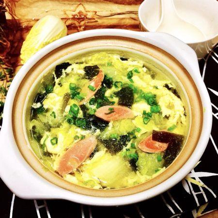 清清淡淡一碗汤➕娃娃菜海带鸡蛋汤