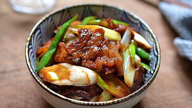 大葱炒五花肉