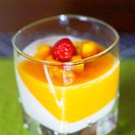 白凉粉版牛奶芒果布丁