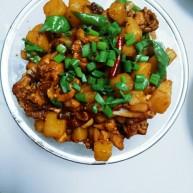麻辣土豆鸡块