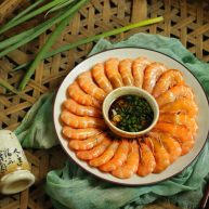花式擺盤,鮮甜白灼蝦