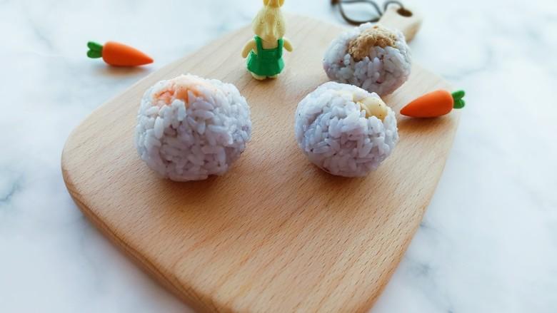 三色蓝莓酱夹心饭团