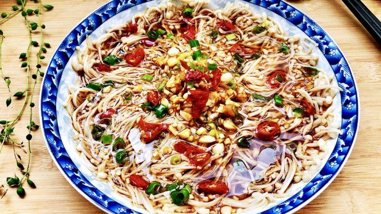 夏日里的开胃小凉菜➕蒜蓉炝拌金针菇
