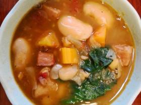 香肠芥兰白豆汤