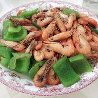 小虾炒青椒