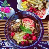 瘦身晚餐 香草烤菌菇薯条&生菜沙拉