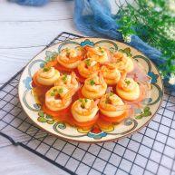 鲜虾蒸玉子豆腐