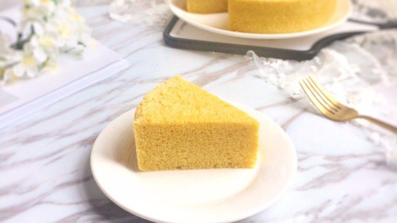 好吃不上火:蒸的玉米粉蛋糕