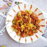 宝宝辅食—花菜香肠杂蔬炒面