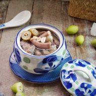 燉粉腸豬肺橄欖湯