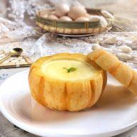 美妙的夏日小甜品: 小南瓜蒸蛋奶