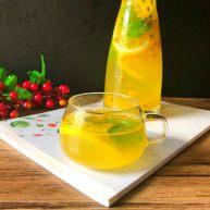 百香果柠檬薄荷蜂蜜水
