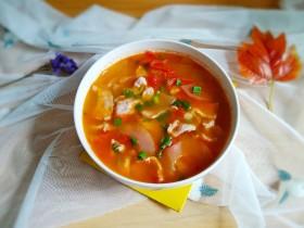 番茄黄瓜肉片汤