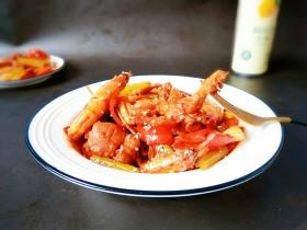 麻辣鲜香~素食干锅虾