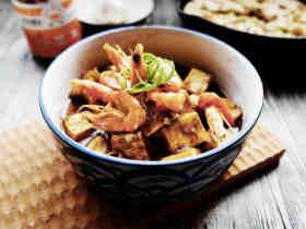 沙茶虾子煨豆腐
