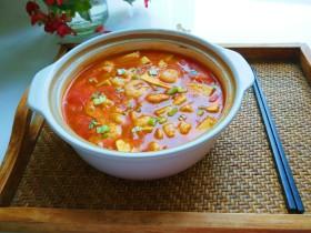 快手正餐 番茄花花虾仁豆腐煲