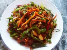 三丝青椒炒肉