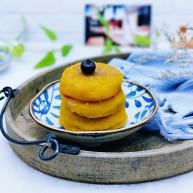 色泽金黄&香甜软糯的豆沙馅南瓜饼