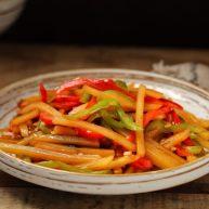 双椒蚝油土豆条