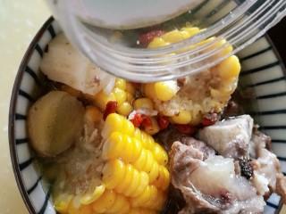 秋季滋养,山药玉米红枣筒骨汤,加入盐