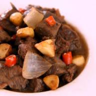 好吃到不可思议的黑椒蒜子牛肉粒