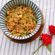 秋季滋阴润燥,杂蔬猪油糯米饭