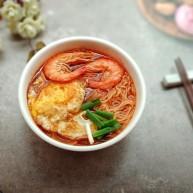 鲜虾番茄鸡蛋面