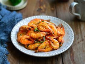 香酥葱姜虾