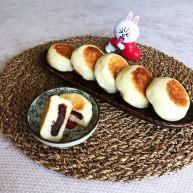 奶香豆沙饼
