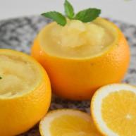 自制网红整颗橙子冰,酸甜鲜嫩还自然