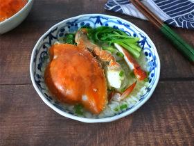 梭子蟹泡饭粥