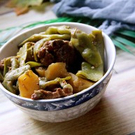 土豆豆角炖排骨
