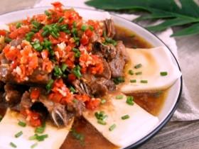 排骨蒸豆腐:荤素搭配不油腻,而且营养翻倍