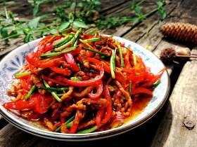 红椒肉丝韭菜花