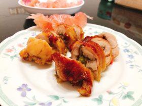 脆皮鸡腿肉包糯米饭