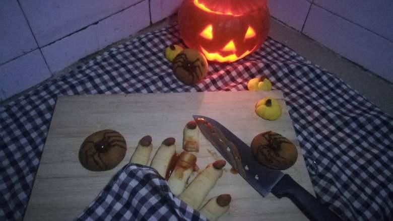 万圣节系列——南瓜灯、南瓜饼干、南瓜蜘蛛曲奇、巫女手指饼干