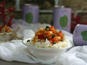 蟹黄味番茄炒蛋盖浇饭