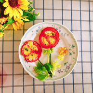西红柿(番茄)花蛋饼-宝宝辅食