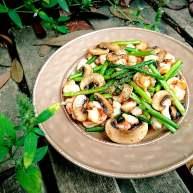 白蘑芦笋虾仁