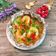 錫紙金針菇粉絲蝦煲