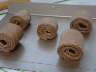 脏脏包,收口朝下,整好形状,每个之间留多点空隙,在室温30°以下进行发酵。不然会导致黄油融化发酵失败。